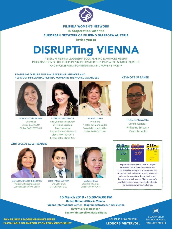 DISRUPTing Vienna Austria Mar 15 2019