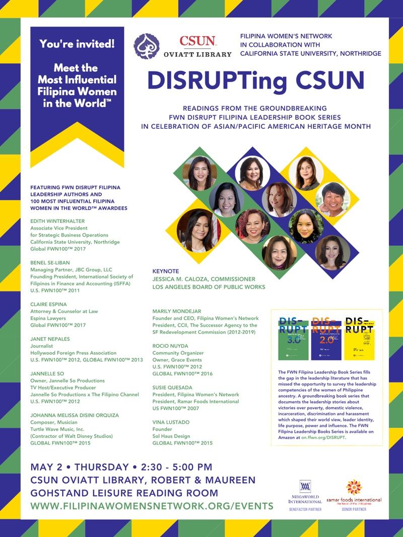 DISRUPTing CSUN May 2 2019
