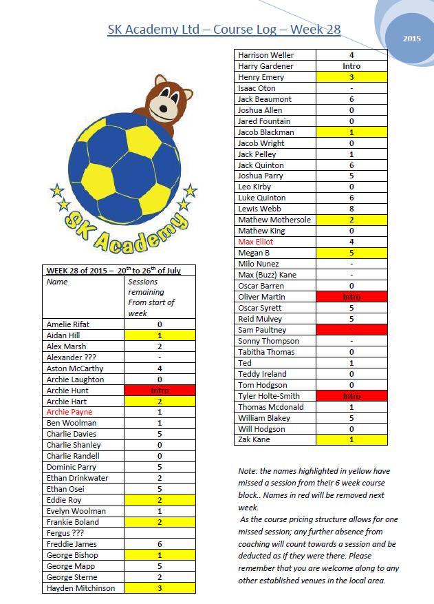Football Logs - SK Academy