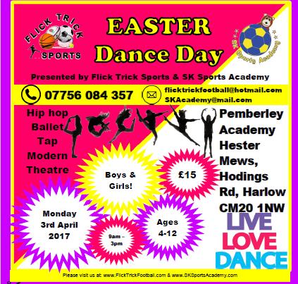 Easter Dance Camp at Pemberley School, Harlow