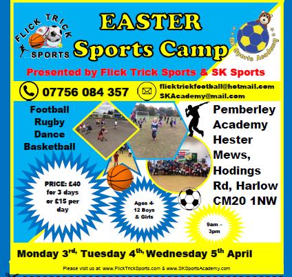 Easter Sports Camp at Pemberley School