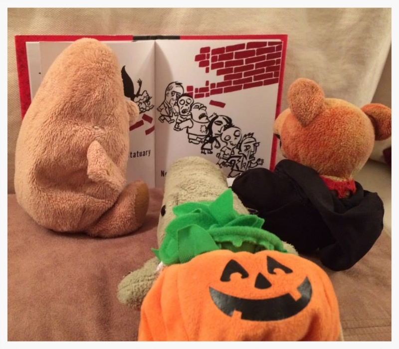 Here we are reading one of our Halloween treat picture books! BEST Halloween treat EVER! (:3