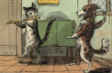 "(Illustration from ""The Comic Adventures of Old Dame Trot and Her Cat"" 1820)"