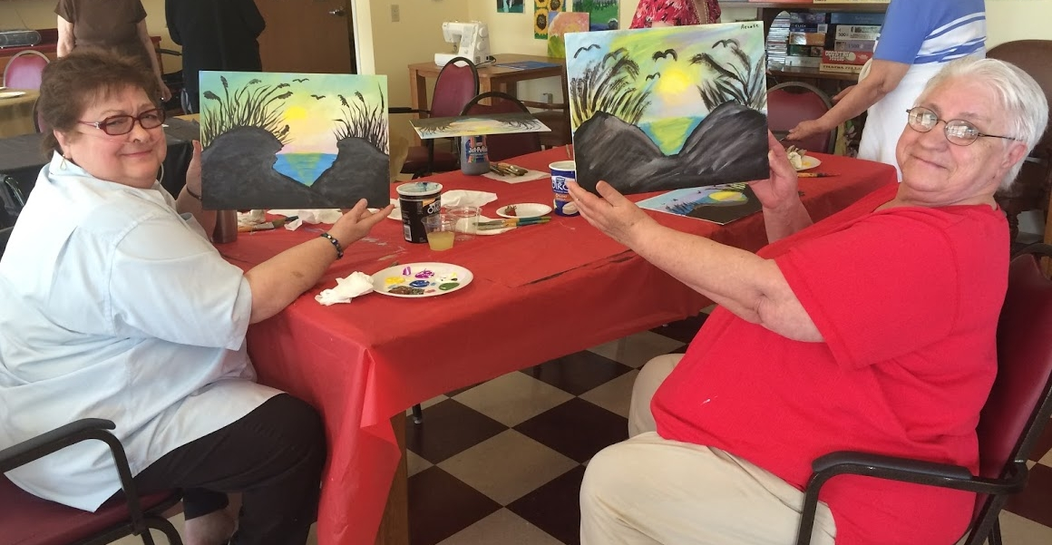 An afternoon painting with friends