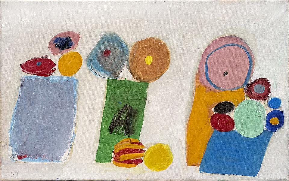 "Edith Schloss ""Rignalla,"" 1967, Oil on canvas, 13 3/4 x 21 1/2 in. (35 x 54.6 cm)"