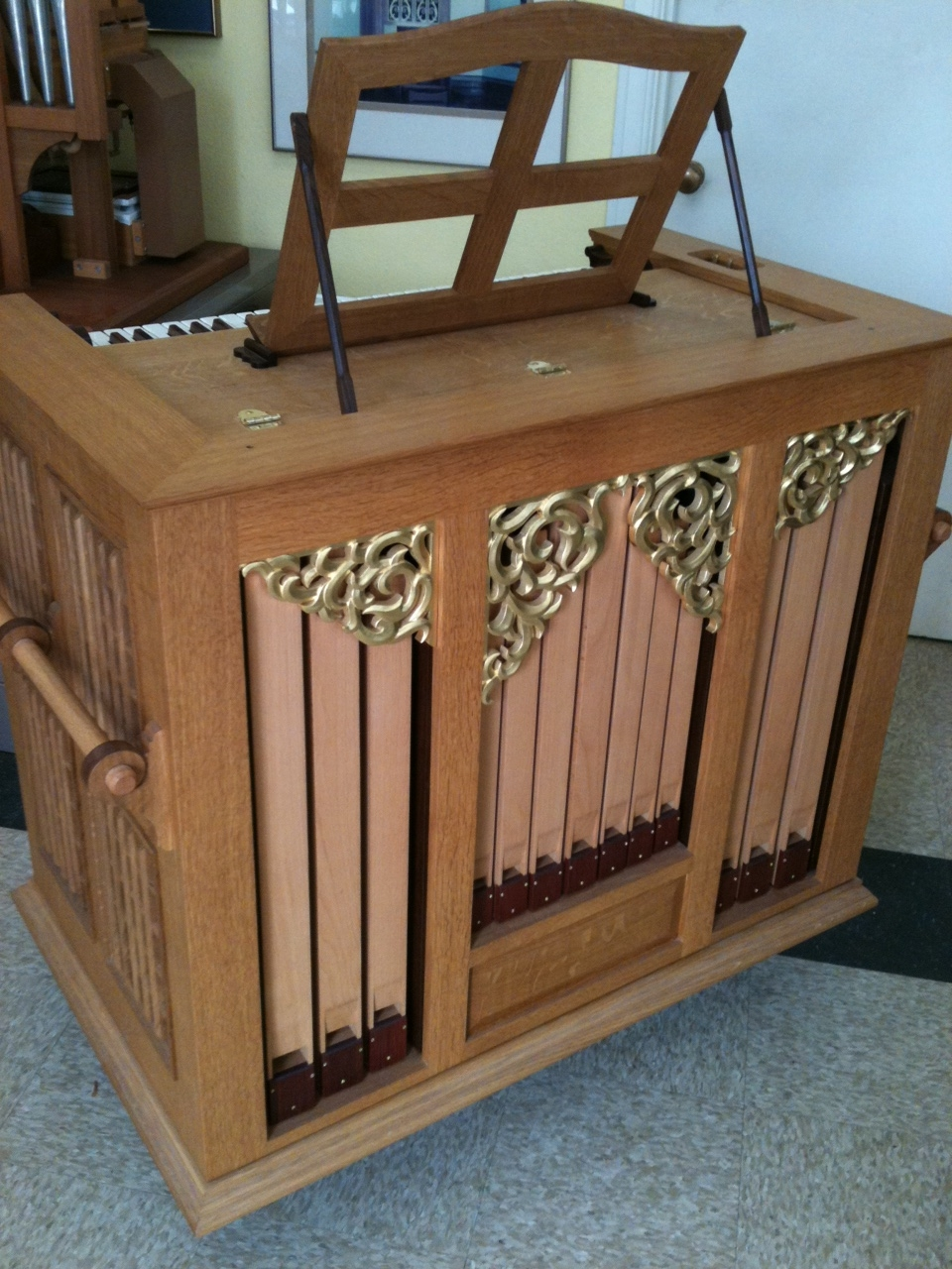 Our Opus 36 Positive organ, ready to leave the shop.