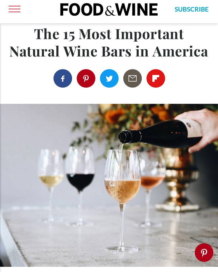 We are HUMBLED to be included in this list of incredible folks spreading the good word. Thank you Food & Wine and the Helena community for listening and loving. And thank you to our vendors who make it their job to share REAL WINE.