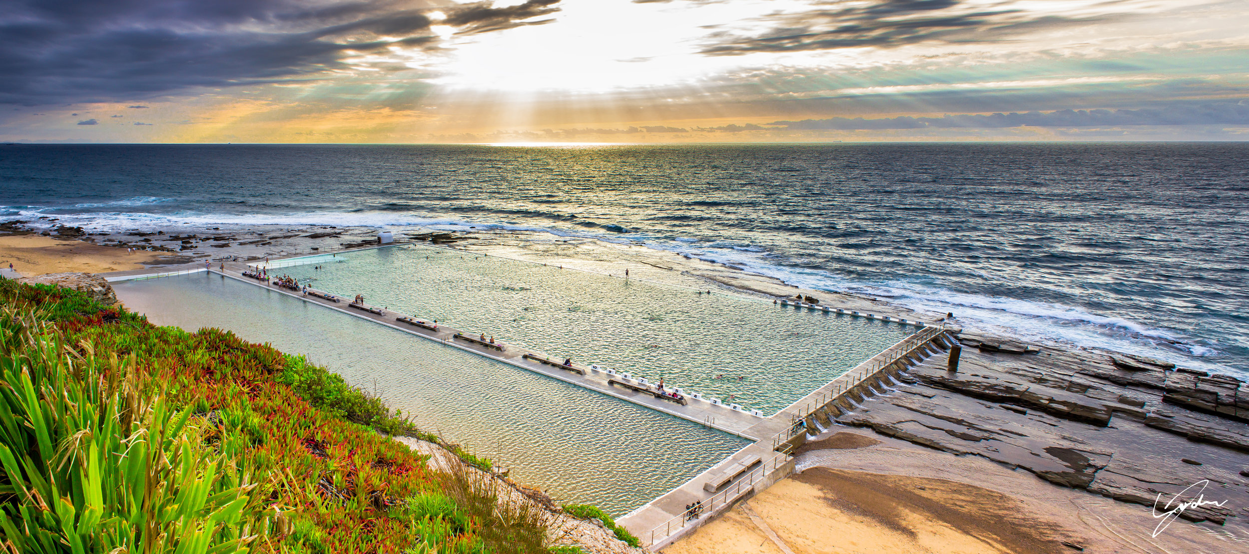 Merewether Baths Sunrise Australia Day