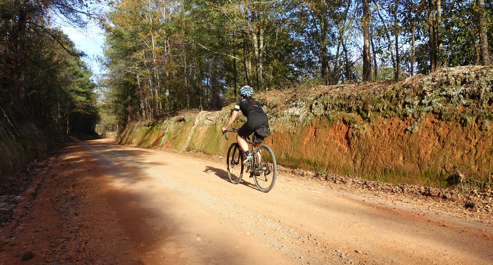 One of the secret dirt roads you'll be riding in Georgia.