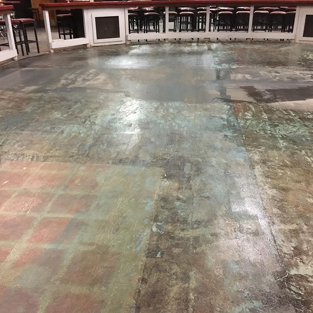 Removed all wood flooring dance floor from a Moe's Place in Katy Texas #Mo'sPlace #KatyTexas #HardwoodCreations #TownsendEngineeredFlooring #WoodFloorReplacement #5InchEngineeredglueDown #DanceFloor