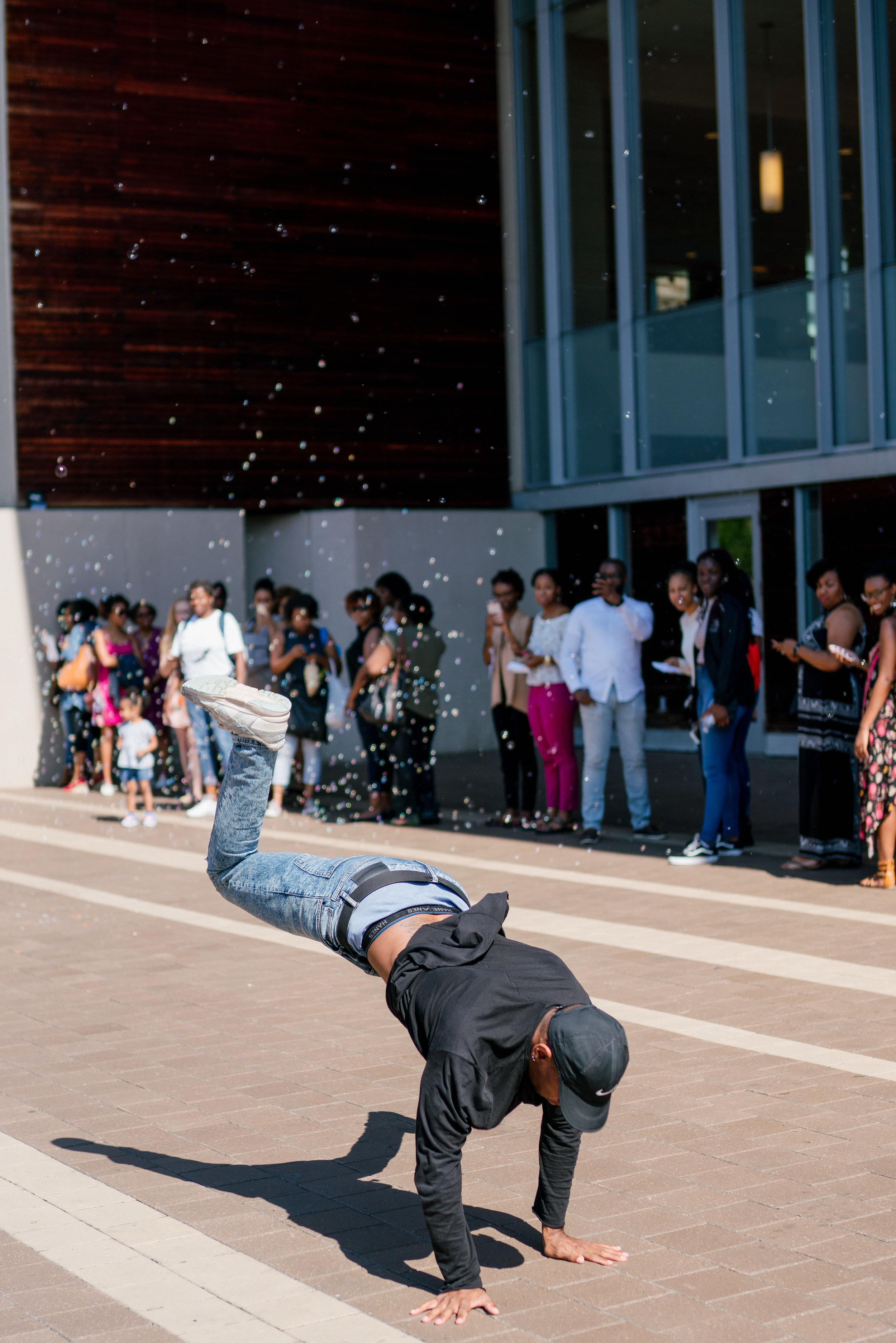 Break dancing while you wait.