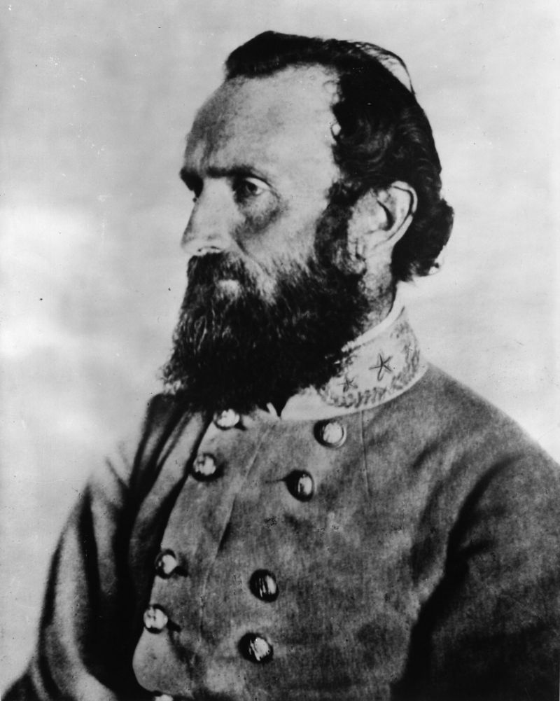 "Thomas Jonathan ""Stonewall"" Jackson, the eccentric VMI professor and legendary confederate general who continues to cast a long shadow in civil war memory"