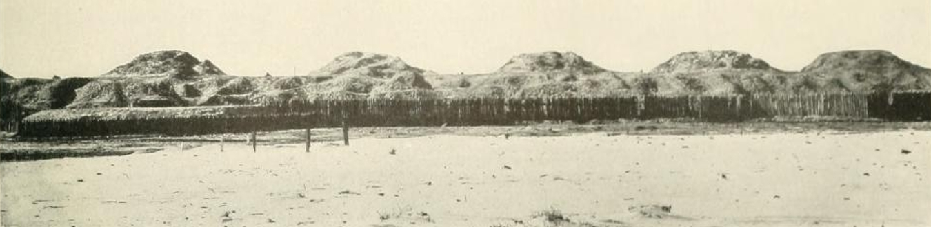 The Sea-Facing Fortifications of Fort Fisher. By Building the Fort from Earth and Wood, the Fort could better withstand bombardment, although the U.S. Navy still inflicted severe damage to the fort's guns. It was against these fortification's that U.S. sailors and marines charged on January 15th, 1865. They did not fare well.