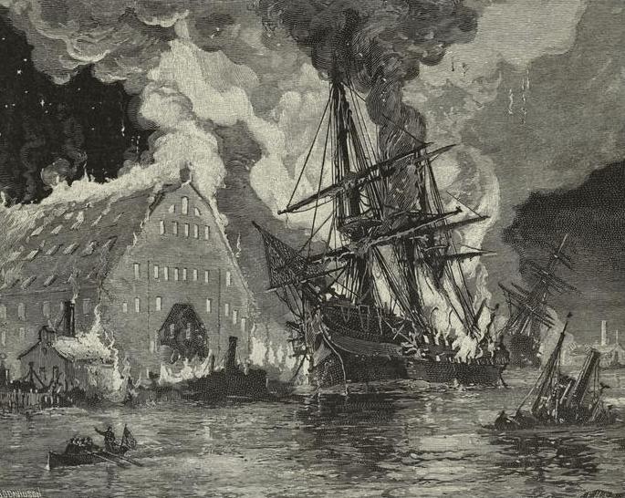 Destruction of the Merrimack