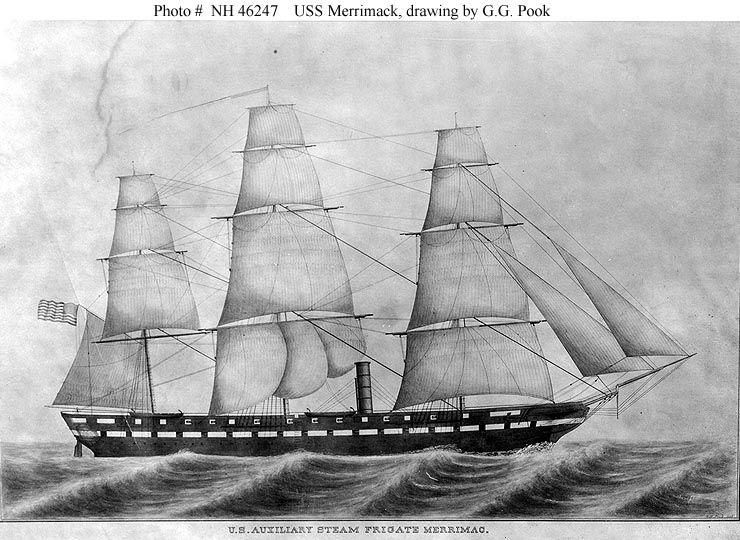 USS Merrimack , by G.G. Pook