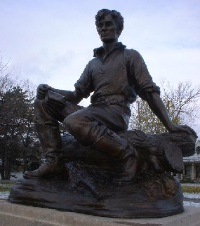 """The Boy Lincoln"" by Percy Bryant Baker (photo credit: unknown)"