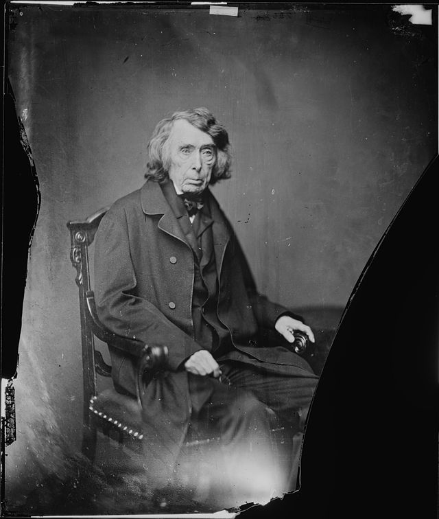 Supreme Court Chief Justice Roger B. Taney, here pictured by Matthew Brady, challenged LIncoln's Suspension of the Writ of habeas corpus to no avail.
