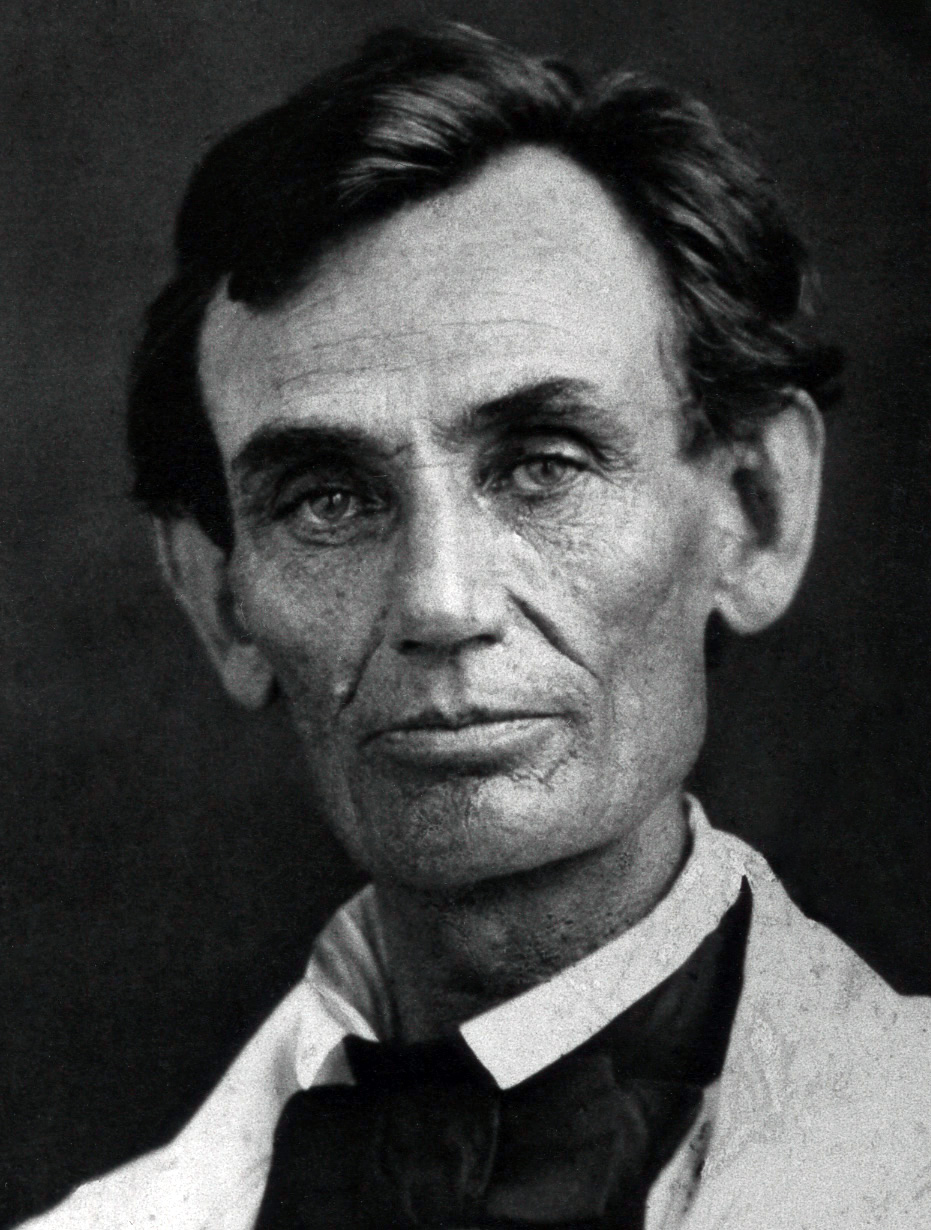 The many faces of Lincoln:  Lincoln in 1858, around the time of the Lincoln-Douglas debates.