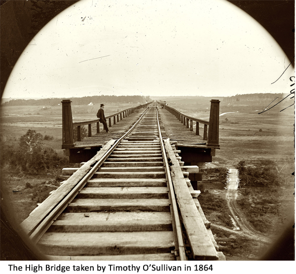 the inability of the confederates to destroy high bridge led to more disaster for lee.