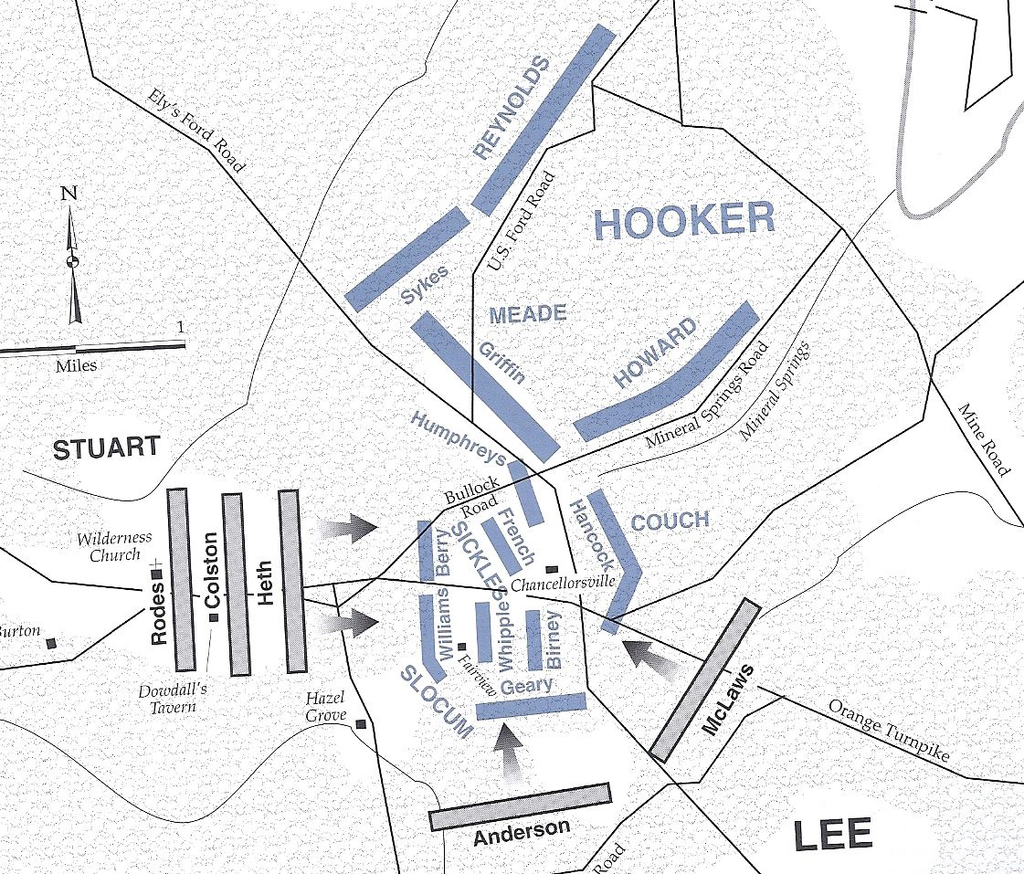 The attacks of may 3 and hooker's decision to withdraw sickles from hazel grove lead to confederate victory at chancellorsville.