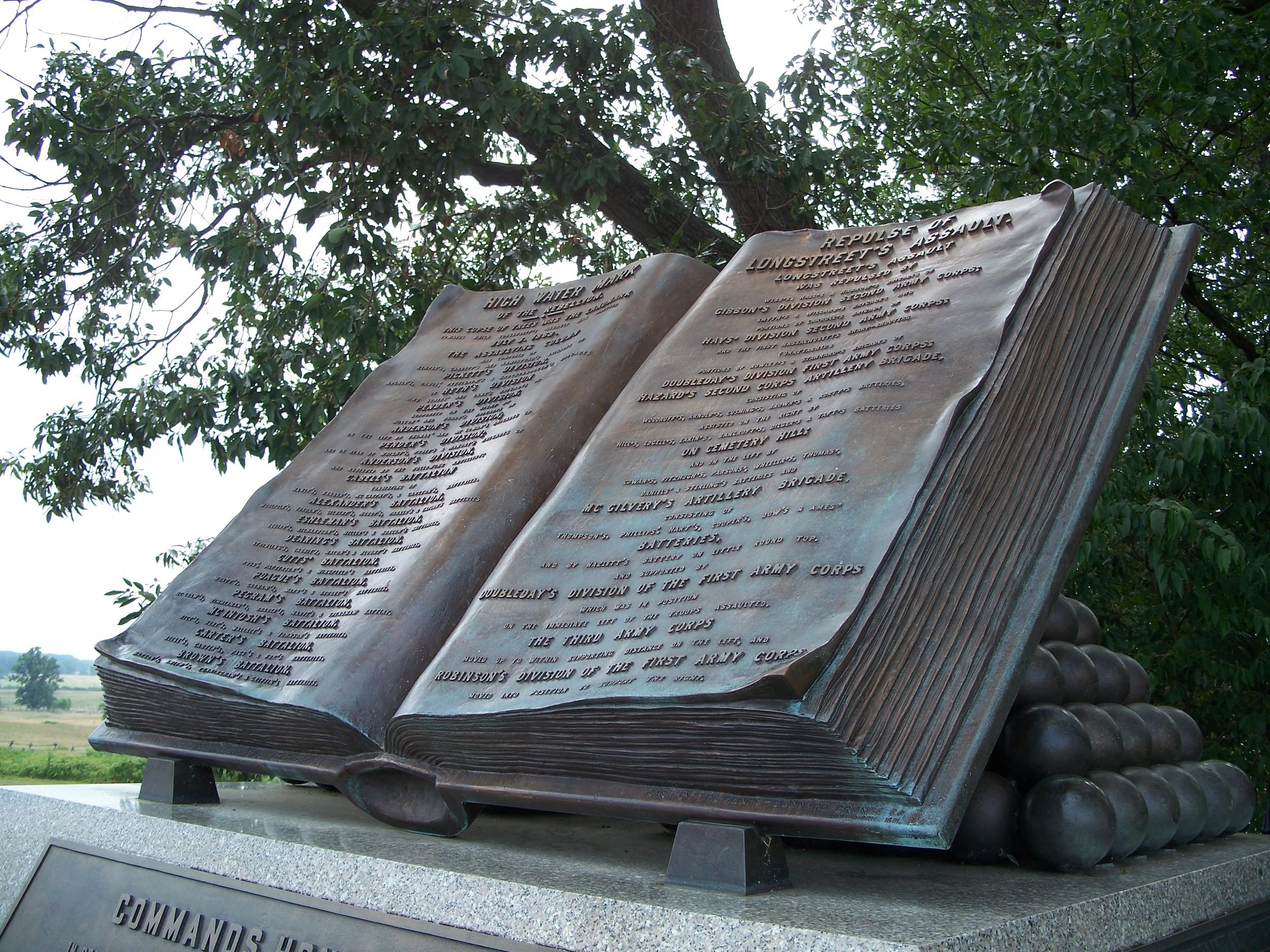 bachelder's high water mark monument.