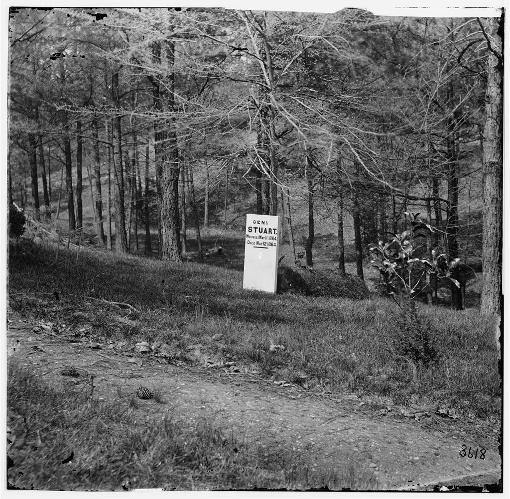 Jeb Stuart did not survive the war; this 1865 photograph depicts his temporary grave site at Hollywood Cemetery in Richmond. Stuart's reputation--including his successes and faults--have long survived the war; a fact Stuart may well have been pleased to learn.