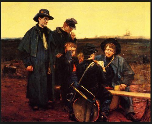 Drummer Boys Playing Cards, by Julian Scott