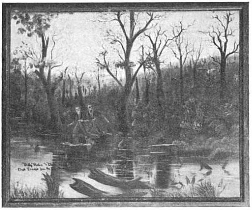 Billy and Dick crossing a swamp after escaping from Andersonville
