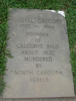 Gregory's grave, located behind the Primitive Baptist Church in Cade's Cove.