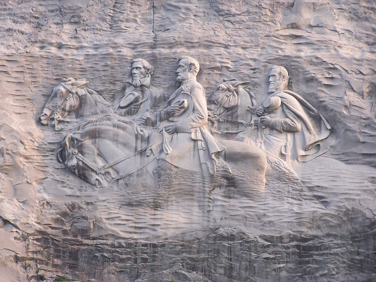 Finished Stone Mountain Carving as seen today