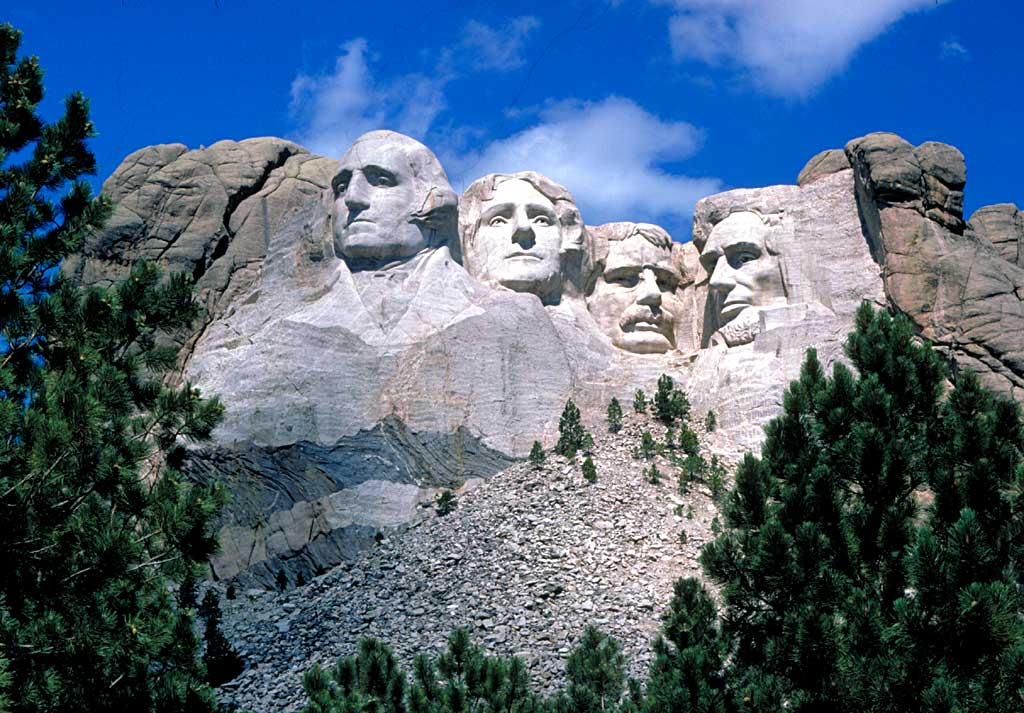 The Mount Rushmore Carving as seen today