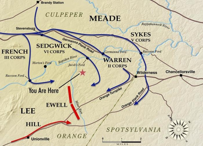 Mine Run Campaign (Map by the Civil War Trust)