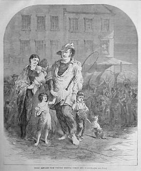 Wartime refugees in flee raids in 1864 Missouri