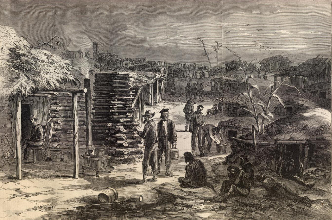 Camp Ford, Depicted in Harper's Weekly, March, 1865