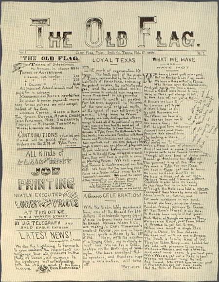 The Old Flag , Camp Ford's prisoner-run Newspaper