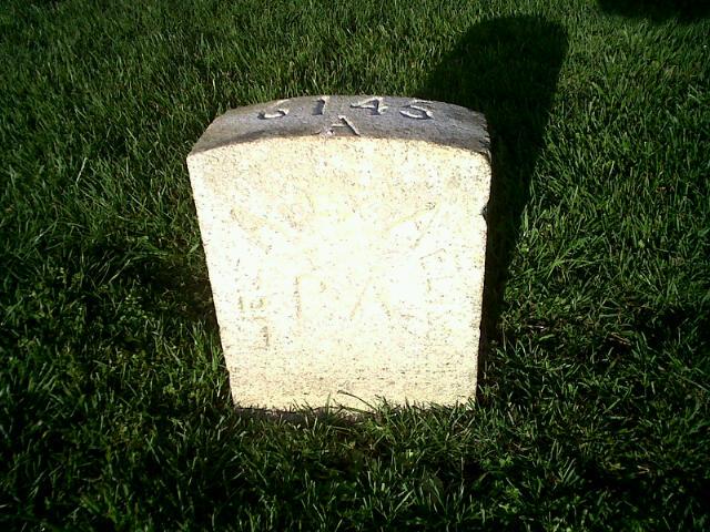 Alexander Allison's grave.