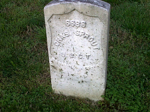 Grave of Chatham slave, Charles Sprout.