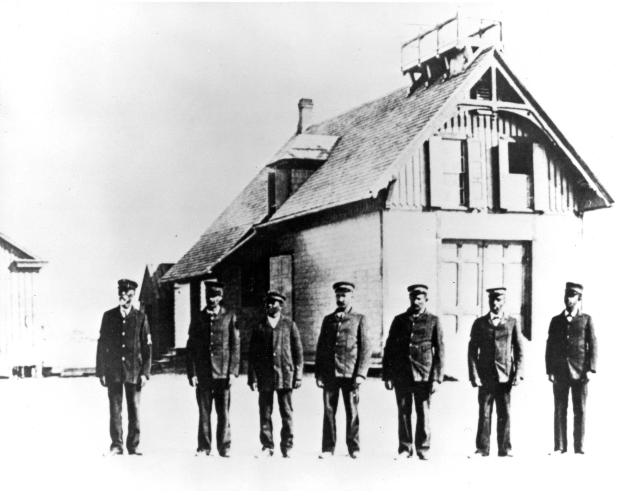 Richard Etheridge and his crew at Pea Island Lifesaving Station.
