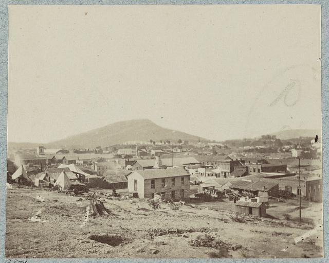 Chattanooga in the Civil War; Lookout Mountain Looms in the Background