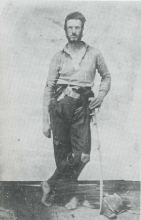 Henry C. Whipple, 2nd Ohio Cavalry. Pictured Here in 1862 when the 2nd was in Indian terr. and Kansas. His parents didn't recognize him in this portrait.