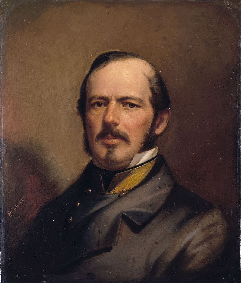 "Strother's diary is effusive in praise of Joe Johnston-pictured here in a romanticized 1860 portrait. Robert E. Lee, on the other hand, was criticized as ""slow and cautious"""