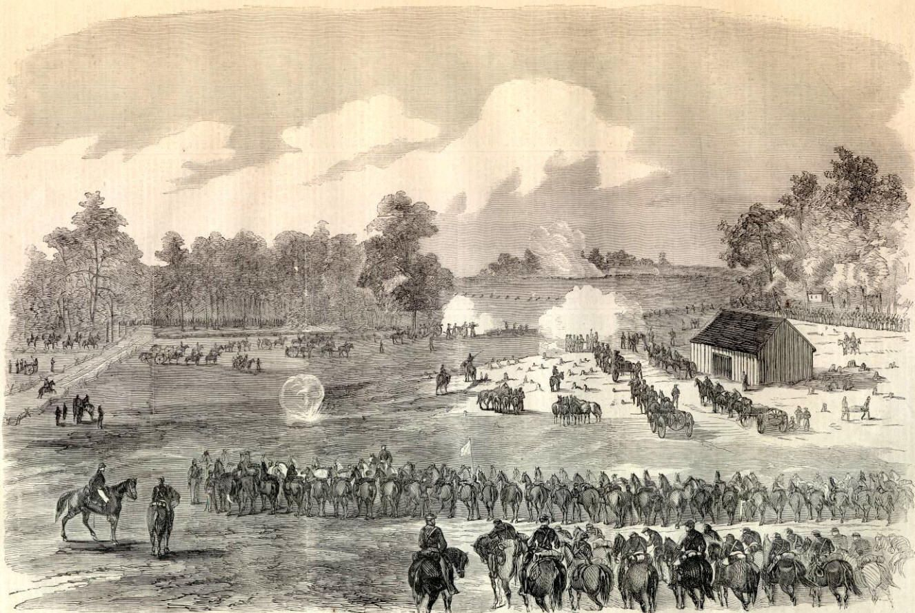Sketch of the Battle of Hanover Courthouse, where the 25th NY lost 45% of their men.