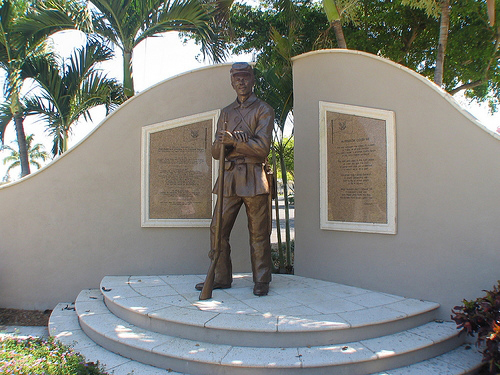 A rare Southern Monument to the 2nd USCT REgiment in Fort Myers, Florida. Only a handful of similar monuments exist in the South.