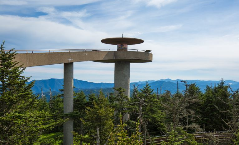 Clingman's Dome observation tower in Great Smoky Mountains National Park