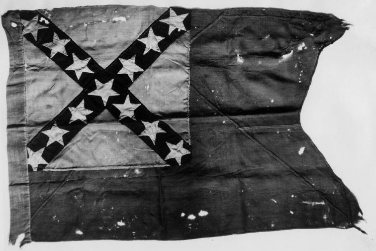 The early war flag of the 31st Virginia Infantry (CS), of which William Gordon was a member