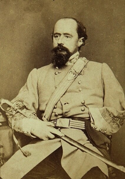 General William Wing Loring, whose 1862 invasion of the Kanawha River valley prompted the publication of the  guerilla