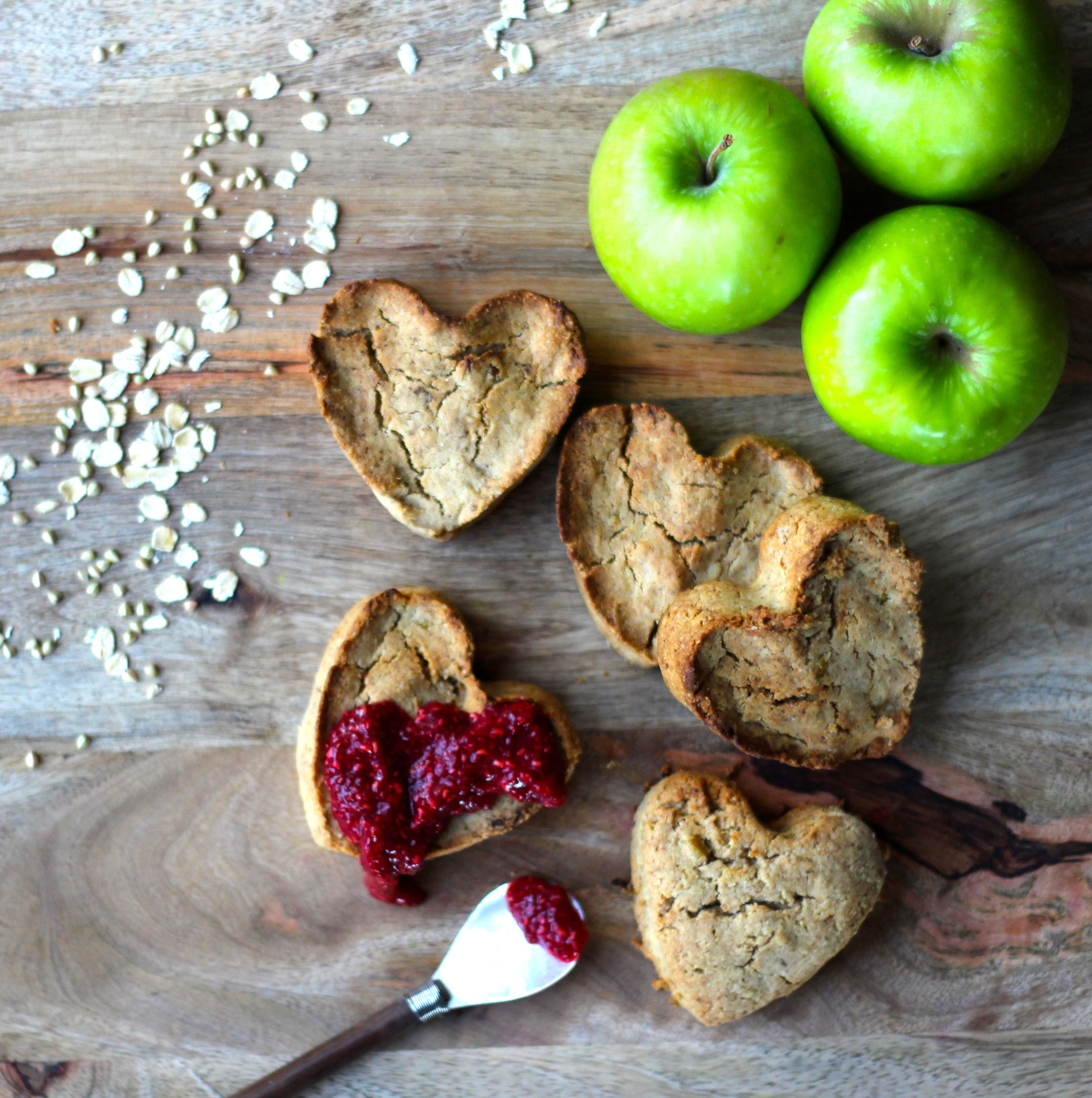 Berry Chia Jam with Apple & Oat Cakes