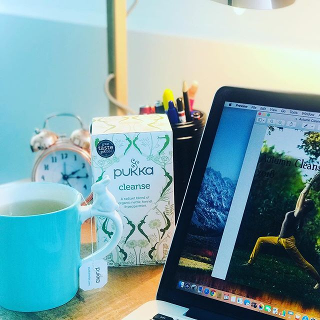 My office is set up and I'm back into work!  Today is finalising our booklet for the Autumn Cleanse in Bunbury with @thetreehouseyoga.  With Easter so close (I had to get out my favourite Easter mug today!) I'm starting on the delicious Pukka Cleanse tea. The mix of nettle, fennel and peppermint is great for the liver and digestion.  We are giving all our Cleanse team some these teas to enjoy during their week of clean eating and daily yoga.  If you would like to join us you'll need to act soon as we are closing on he 28th March - time to get booklets printed! . . . #cleanse #reboot #detox #Bunbury #naturopath #yoga #treehouseyoga #autumn