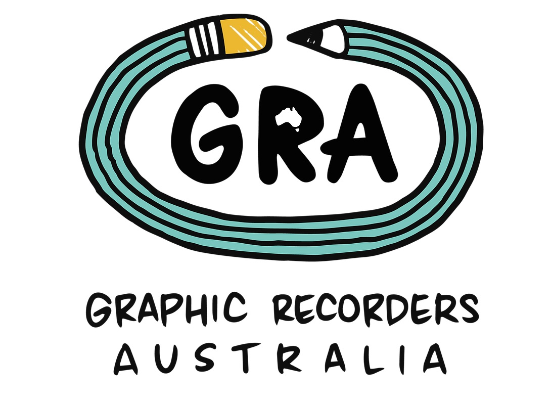 Sarah is a Committee Member of GRA.  Graphic Recorders Australia is a not-for-profit professional membership association, initiated to support the growth and quality of the Graphic Recording community in Australia. And to ensure the ongoing high standard of quality in our industry, for practitioners and our clients.