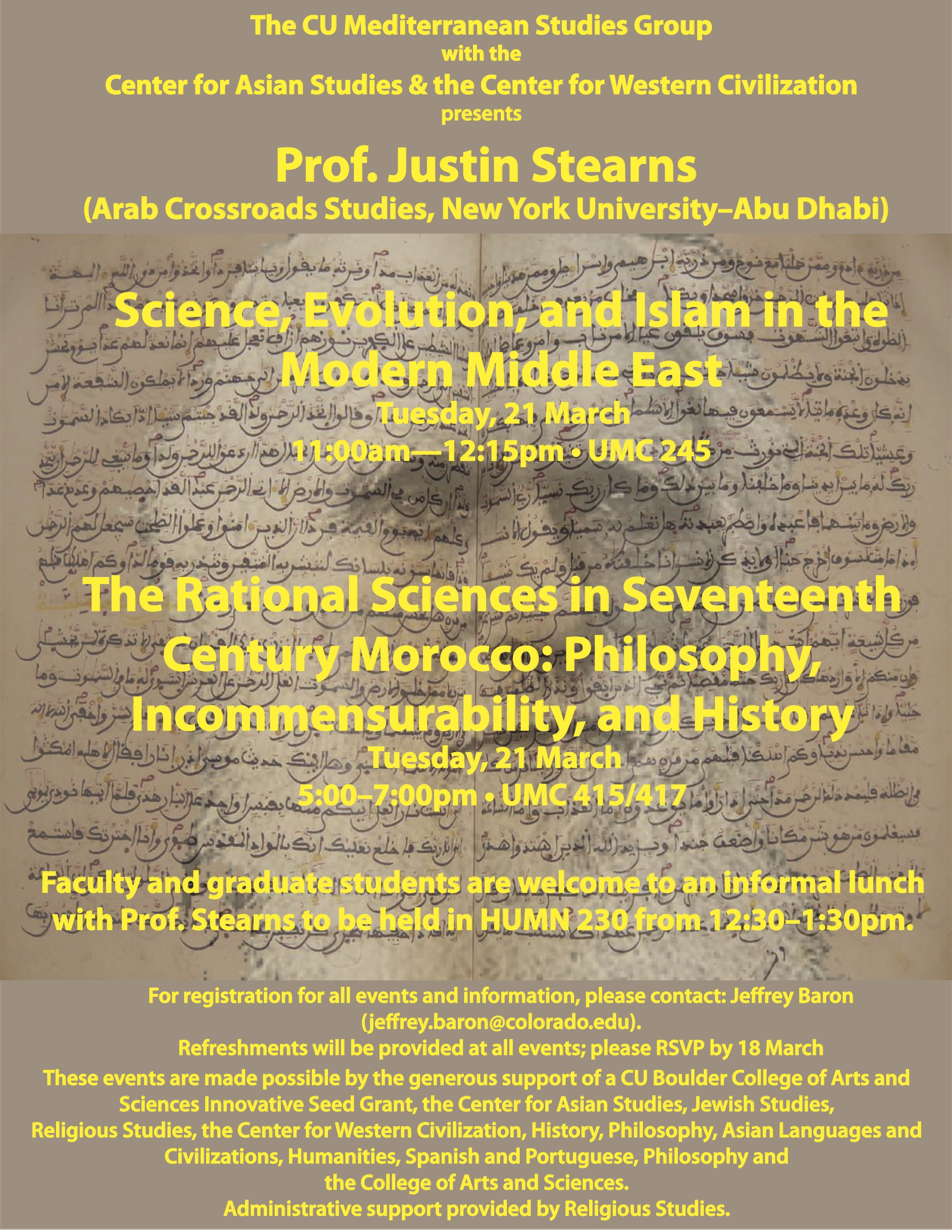 170321 Stearns Islam and Science in Early Modern Morocco and the Modern Middle East.jpg